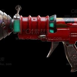 C4素材网-科幻手枪C4D模型