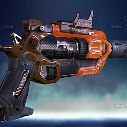 C4素材网-科幻手枪C4D模型-5
