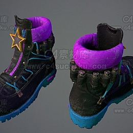 C4素材网-鞋子C4D模型-5