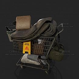 C4素材网-购物车C4D模型