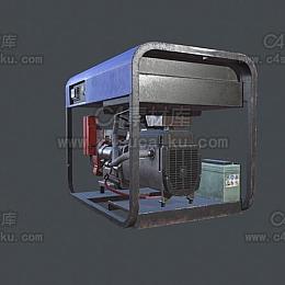 C4素材网-发电机C4D模型