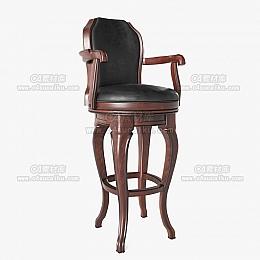 C4素材网-酒吧椅C4D模型