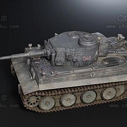 C4素材网-坦克C4D模型