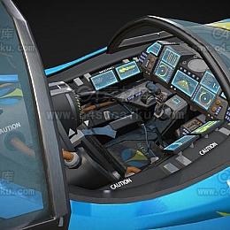 C4素材网-高达机舱C4D模型
