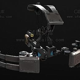 C4素材网-弓弩C4D模型