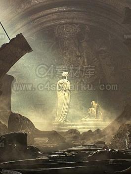 【二更小分队】隐藏的神殿C4D工程by Yadaom