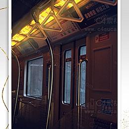 C4素材网-城市列车C4D工程