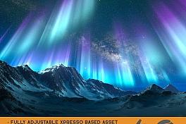 C4素材网-C4D预设-北极光OC预设资产包