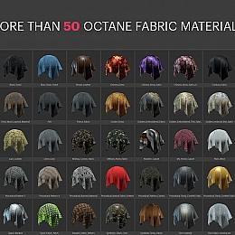 C4素材网-50组布料皮革丝绸材质贴图【内含OC材质预设】