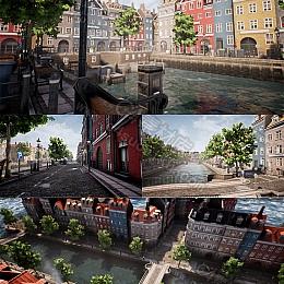 C4素材网-UE4资产-西方中世纪城市建筑