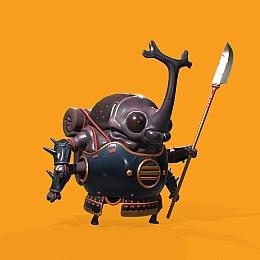 C4素材网-卡通甲壳虫小人