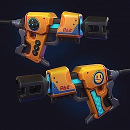 C4素材网-科幻卡通手枪