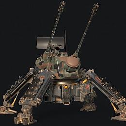 C4素材网-科技炮台