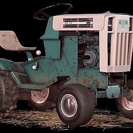 C4素材网-拖拉机农用车