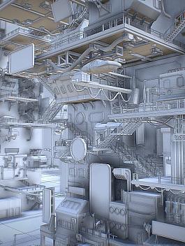 C4素材网-Blender工程-赛博朋克未来科技城市场景