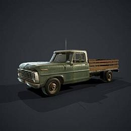 C4素材网-卡车货车模型