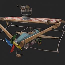 C4素材网-风车飞机模型