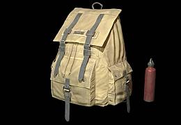 C4素材网-柱形背包