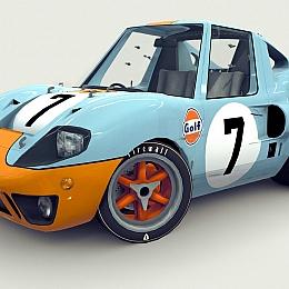 C4素材网-卡通汽车模型