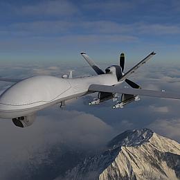 C4素材网-无人机侦察机模型