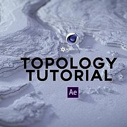 C4素材网-C4D工程-地形地图【包含AE合成及三小时中文翻译教程】