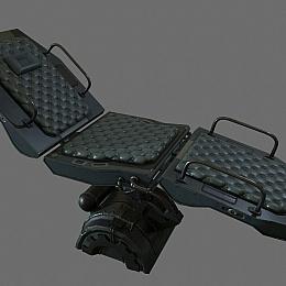 C4素材网-科幻椅子模型
