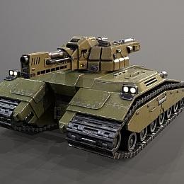 C4素材网-坦克模型