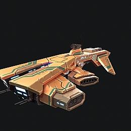 C4素材网-科幻飞船飞行器模型