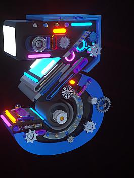 C4素材网-C4D工程-数字3【带动画octane渲染】