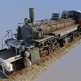 C4素材网-火车头模型