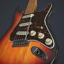 C4素材网-电子吉他模型