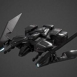 C4素材网-科幻飞机飞行器模型