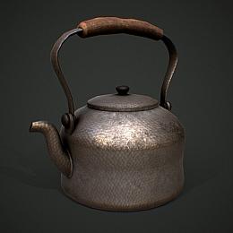 C4素材网-茶壶烧水壶模型