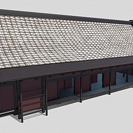 C4素材网-古风房屋建筑模型