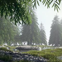 C4素材网-C4D工程-树林场景