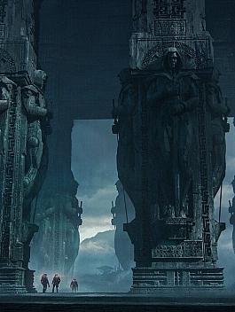 C4素材网-Blender工程-古代文明废墟石像场景