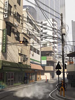 C4素材网-UE4资产-现代城市街道建筑资产包