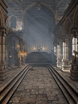 C4素材网-UE4资产-石柱城堡宫殿模型资产包