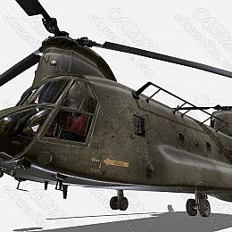 C4素材网-直升飞机模型