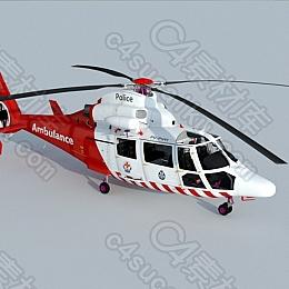 C4素材网-直升机模型【带动画】
