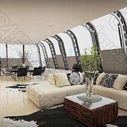 C4素材网-UE4工程-简约现代室内沙发建筑模型资产