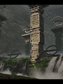C4素材网-Blender工程-丢失的文明遗迹建筑 3D 包概念艺术【含FBX模型文件】