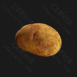 C4素材网-土豆模型
