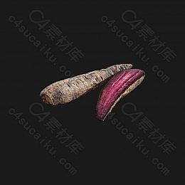C4素材网-紫胡萝卜模型