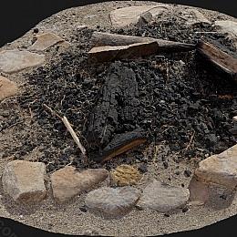 C4素材网-熄灭的火堆模型