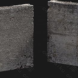 C4素材网-破损的围墙模型