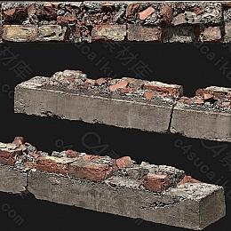 C4素材网-砖墙模型