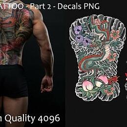 C4素材网-20组日本纹身贴图