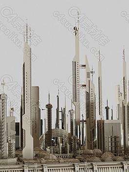 C4素材网-Blender工程-未来科幻建筑