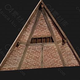 C4素材网-屋顶模型